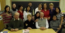 Speaking to students at the Blossom Park Adult Education Centre, Woodstock