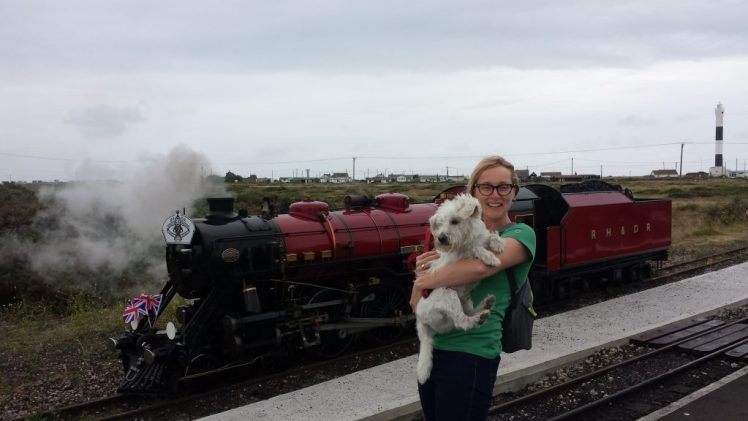 Jenny and Ernie at the Romney, Hythe and Dymchurch Railway
