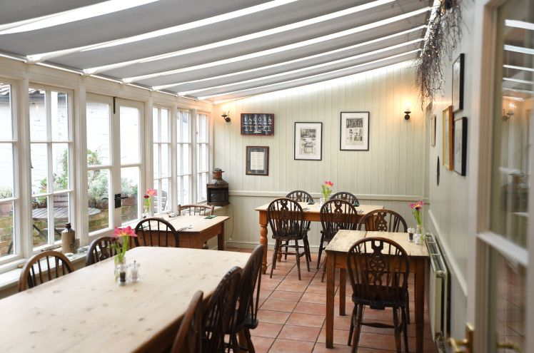 Conservatory dining room at The Ship at Dunwich