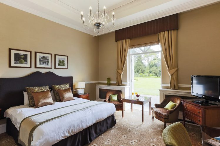 West Wing Executive bedroom at Down Hall Hotel, Essex