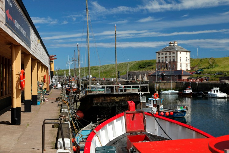 View of Gunsgreen House from Eyemouth harbour