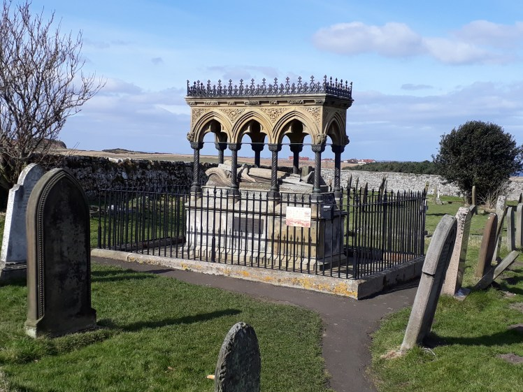 Grand memorial for Grace Darling in a Bamburgh churchyard