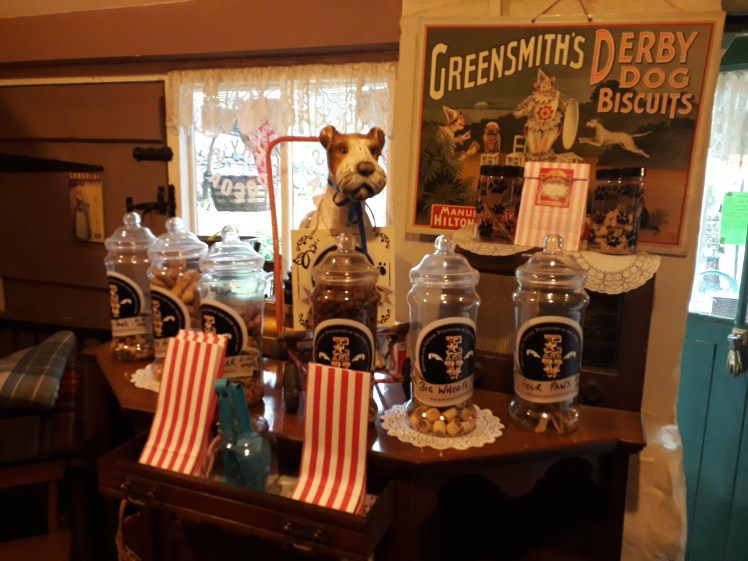 The dog treat section at Edward & Vintage in Tissington