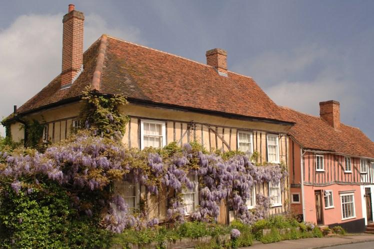 Historic timber houses in Lavenham