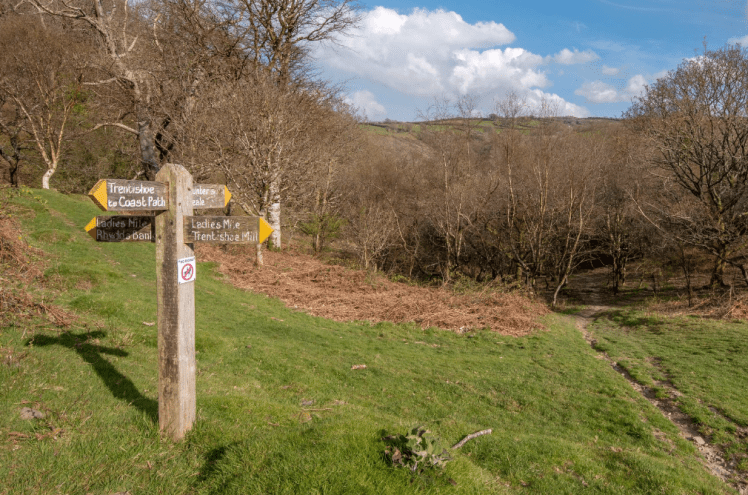 Signpost at Exmoor National Park
