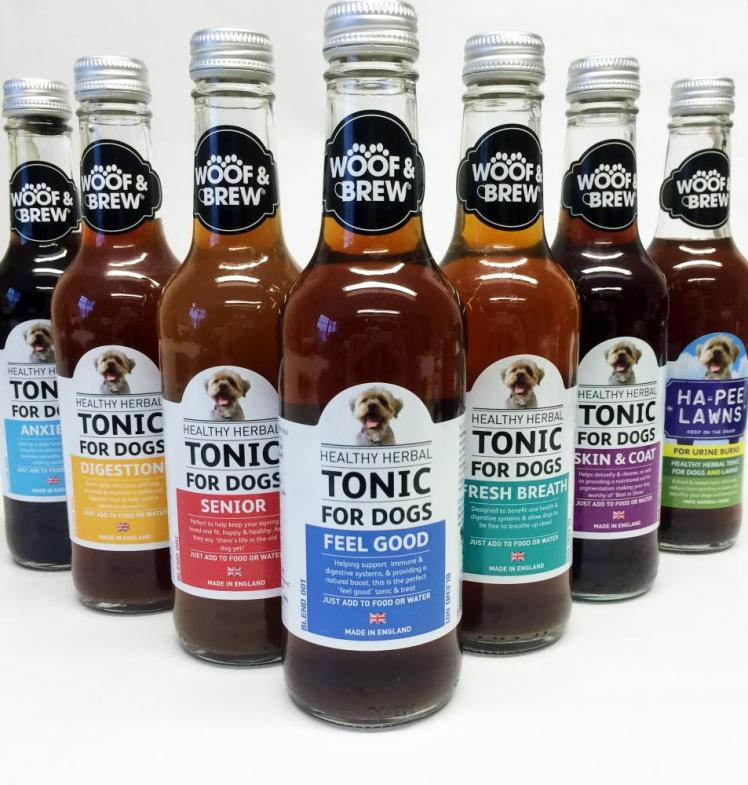 The full range of Woof & Brew tonics