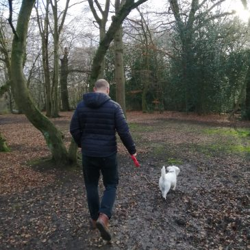 Ernie and Nick enjoy a walk in Epping Forest