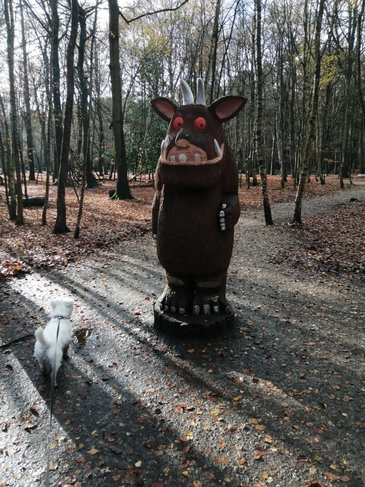 Ernie sniffs out the elusive Gruffalo at Thorndon Country Park in Brentwood