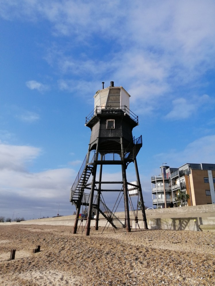 One of the wooden lighthouses at Dovercourt Bay