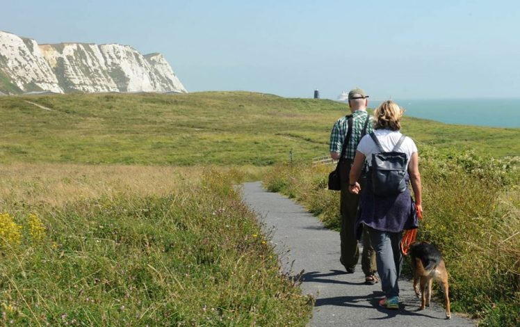 Dog walkers at Samphire Hoe