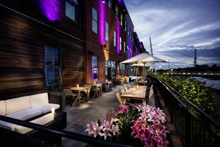 Riverside terrace at the Pentahotel Ipswich