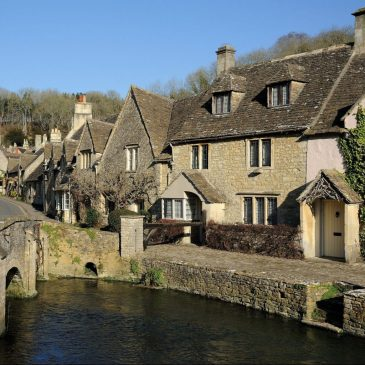Picturesque Castle Combe in the Cotswolds