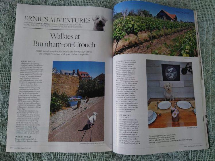 Ernie's column about Burnham-on-Crouch in Essex Life magazine