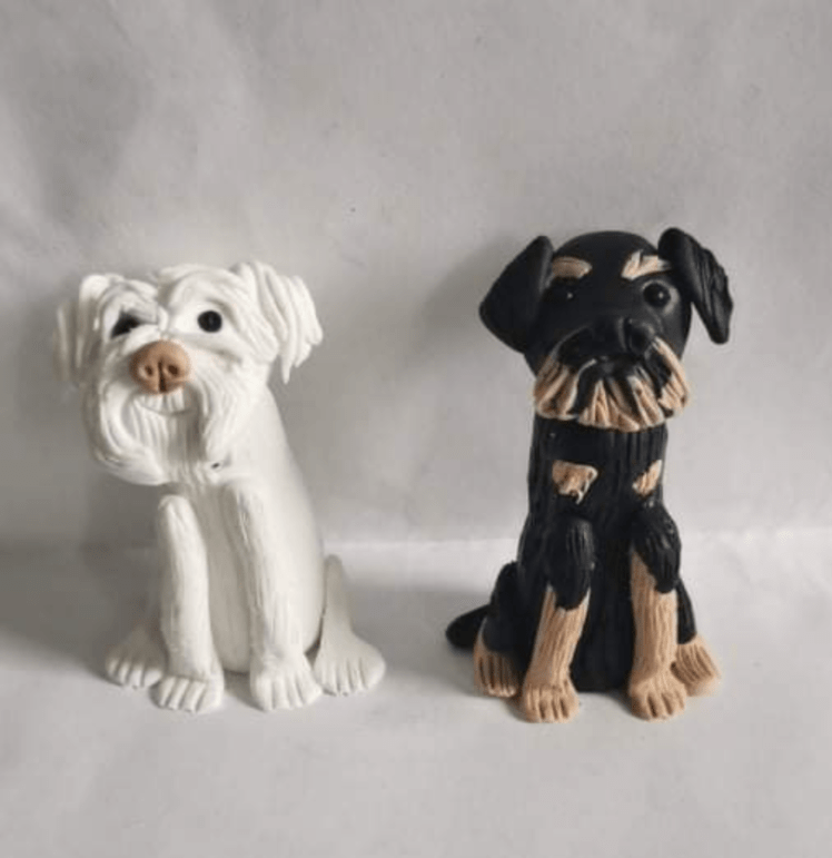 Ernie and Stan as clay miniatures