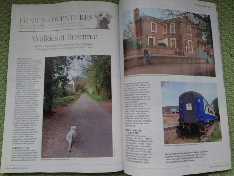 Ernie's Braintree article in the June 2021 edition of Essex Life
