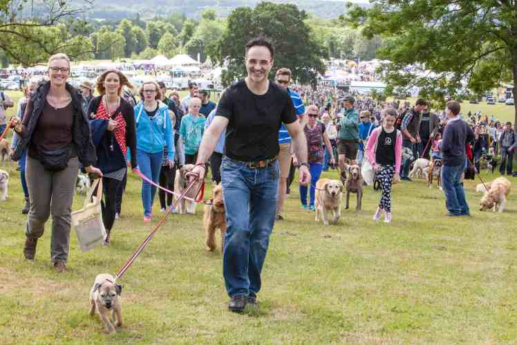 Supervet Noel Fitzpatrick and his beloved Border Terrier Keira at the 2018 Dogfest