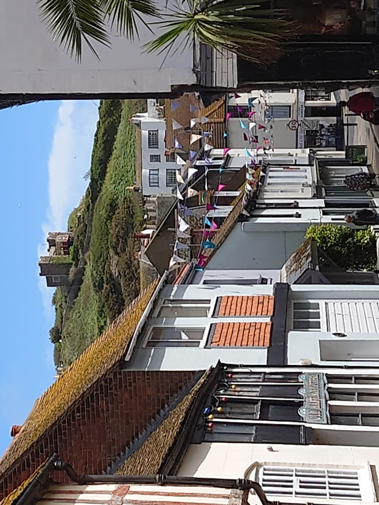 View of East Hill Lift from the Old Town in Hastings