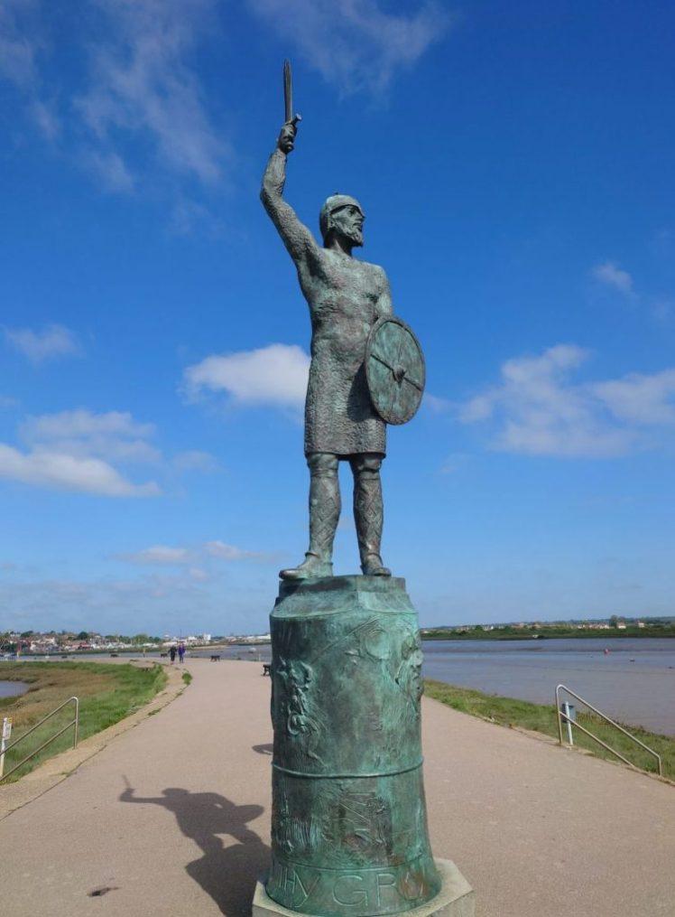 Statue of Byrhtnoth in Maldon
