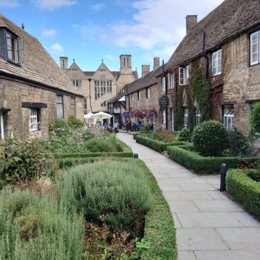 Courtyard garden at The Talbot Hotel, Oundle