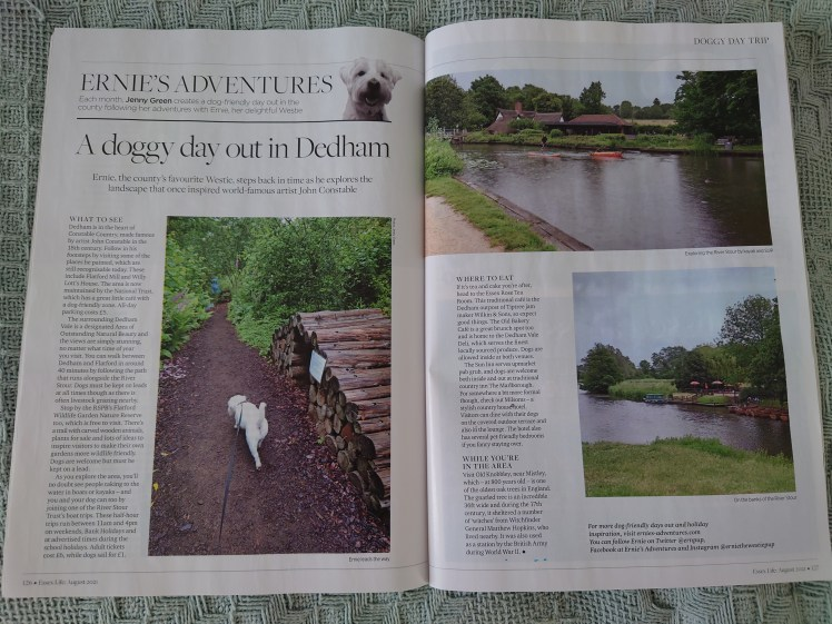 Ernie's column about Dedham in the August 2021 edition of Essex Life