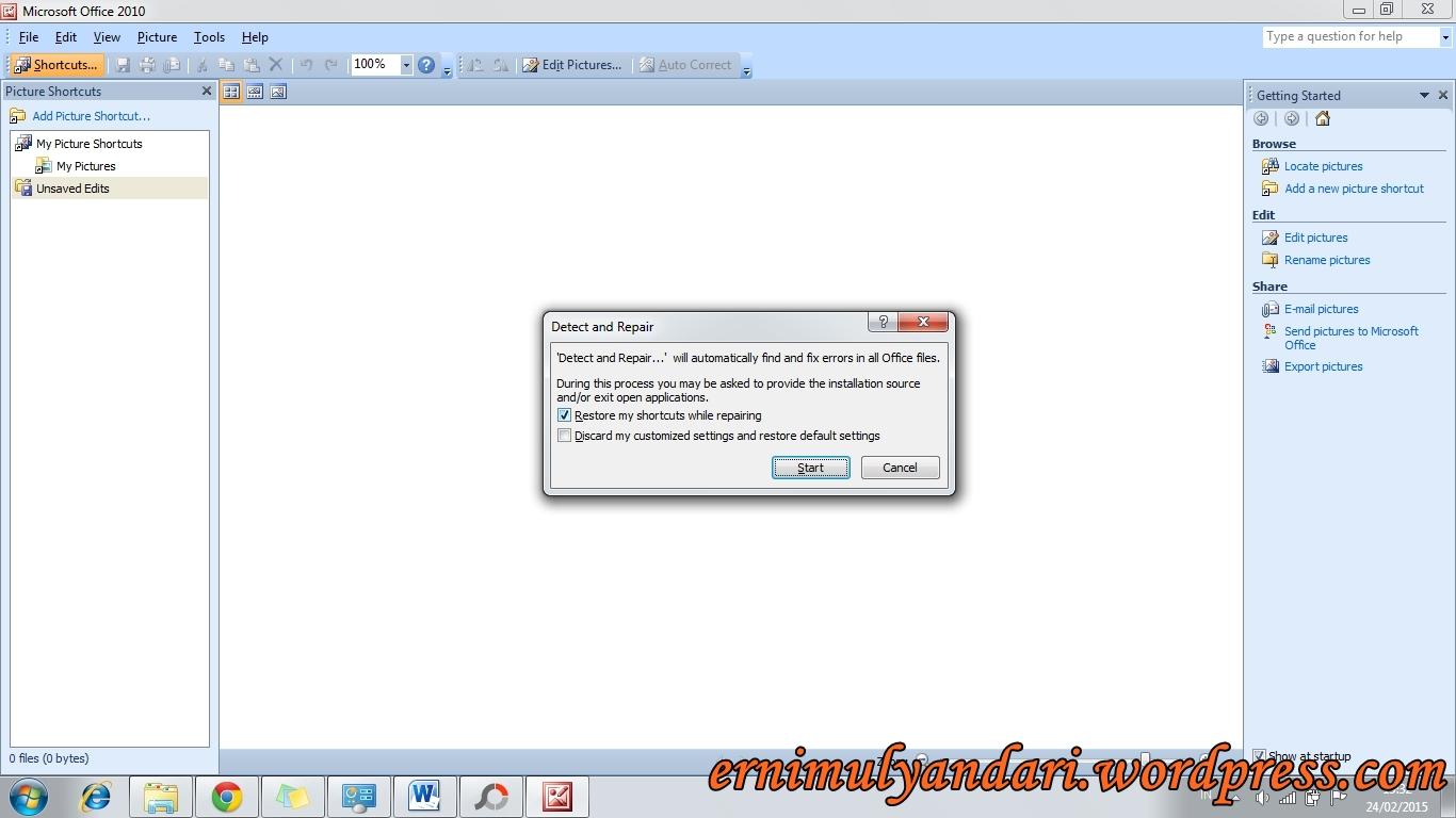 Cara Mengembalikan Icon Microsoft Office Yang Hilang