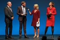 Werner DInka, Presiträger Bastian Brinkmann, Susan Link und Preisträgerin Dr. Alexandra Borchardt