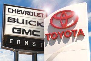 Ernst Auto Group Dealership Signs