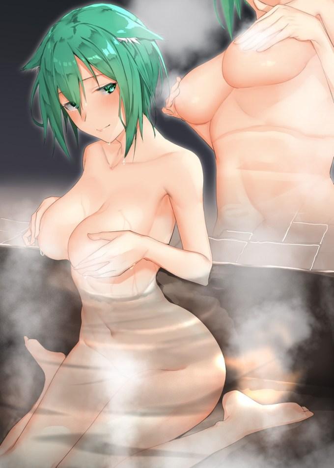 6のエロ画像07 - 【二次】お風呂、温泉で湯けむりエッチしているエロ画像 Part6