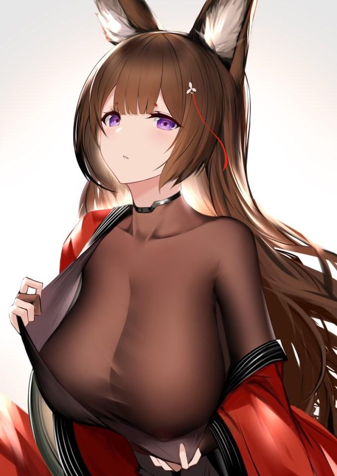 26の二次エロ画像01 - 【二次】胸元パツパツな着衣おっぱい画像 Part6