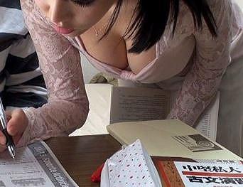 浜崎真緒レイプ中出し女子大生家庭教師巨乳美少女「ちょっと…//まってー//」禁欲生活で巨乳おっぱいに我慢できず性欲爆発した教え子に中出しレイプされる家庭教師お姉さん40分