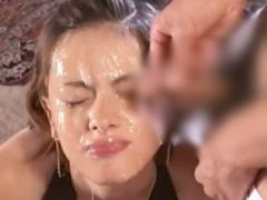 ぶっかけ美女モデル臭い大量ザーメン臭モデル級美女が男達の餌食に大量のザーメンをぶっかけられ顔中臭い精液でベトベトです09:01