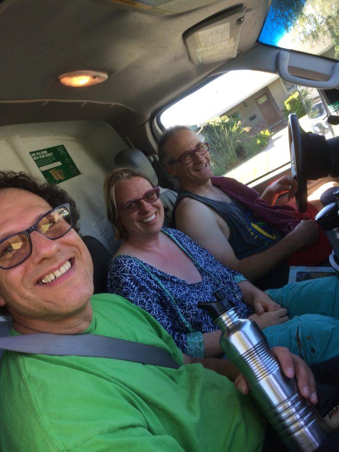 Alexi, Erika and Corey arriving in the U Haul!