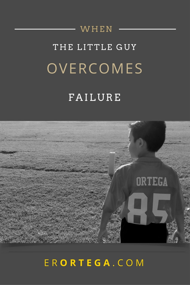 Never underestimate the littlest guy on the football field. He may surprise you with his speed and endurance. Read a short reflection piece from a mother watching her son overcome failure with grace.