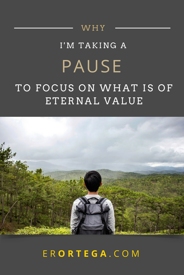 Why is it necessary to take a pause to reconnect with eternal commitments, to renew and refresh with great expectation of something beyond what we're able to grasp right now? Click to read full post.