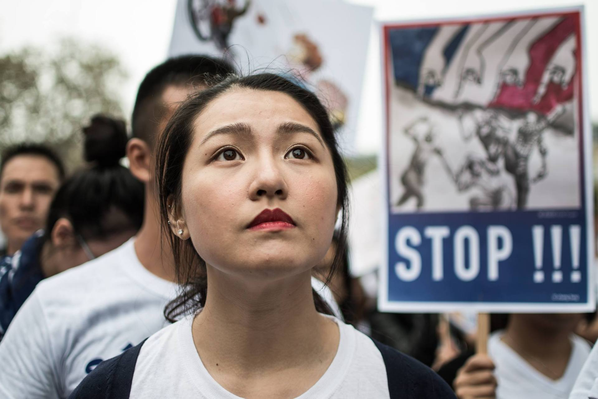 The protest of Chinese of Paris