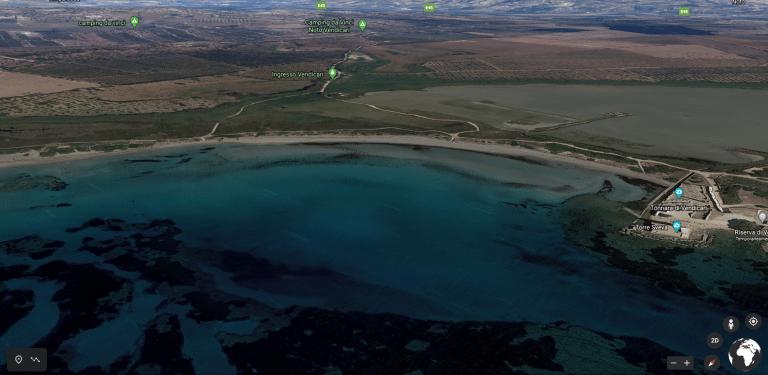 Riserva oasi naturale di Vendicari Spiaggia all'interno dell'oasi naturale di Vendicari