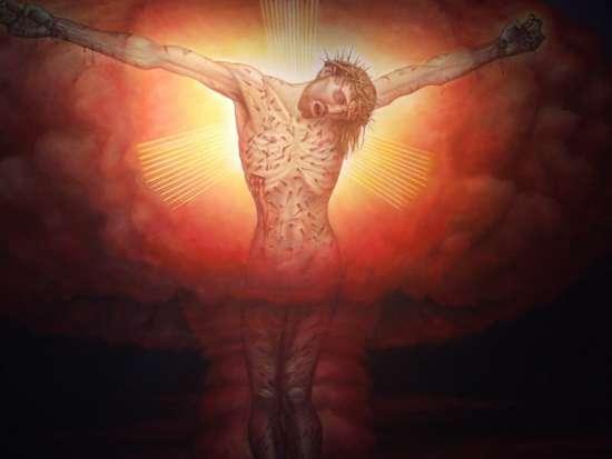 Алекс Грей. Распятый на ядерном взрыве Христос