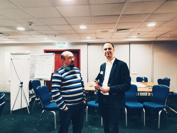 Анатолий Баляев и Никита Сычевский на проектно-стратегической сессии «Счастливый город»