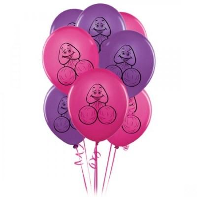Pack de 8 globos lilas y rosas