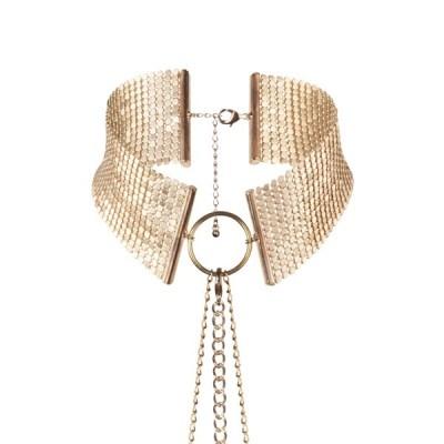 Collar metálico dorado Désir Métallique