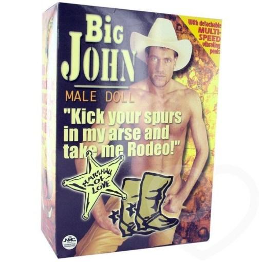 Big John Male Doll Titreşimli Penisli Şişme Bebek Erkek Manken