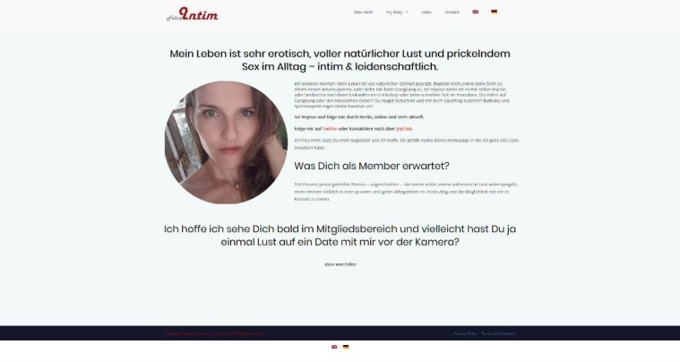 Erotik Homepage Design