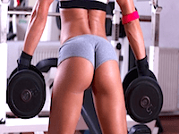 Workout film og fotos med røvlækre babes