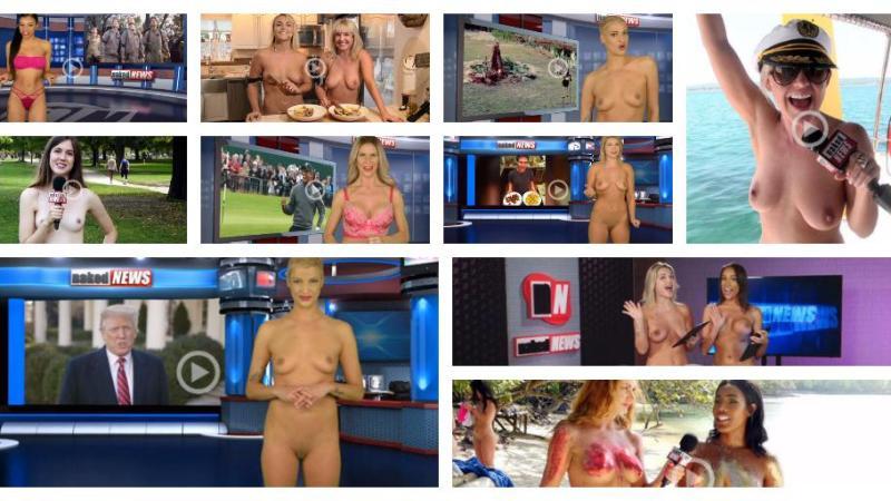 Se nyheder fortalt af tv-værter der smider alt tøjet på Tv