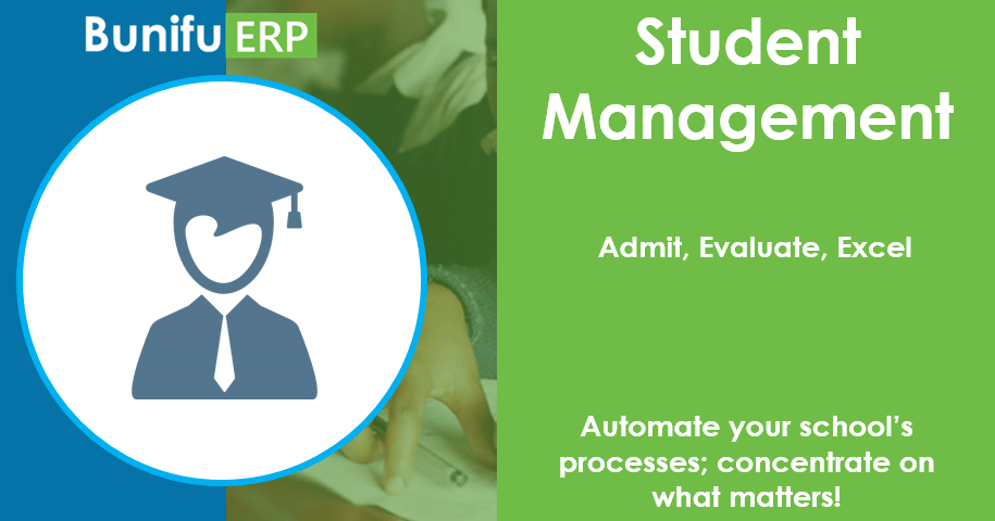 Bunifu ERP for schools and colleges student management module