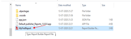 report file path