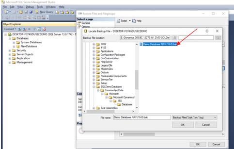 Select Bak File