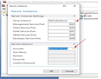 Server Instance Settings