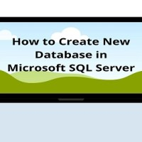 How to Create New Database in Microsoft SQL Server