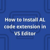 How to Install AL code extension in VS Editor